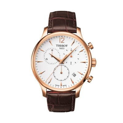 Montre Homme Tissot Tradition Chronograph Bracelet Cuir Marron - T0636173603700