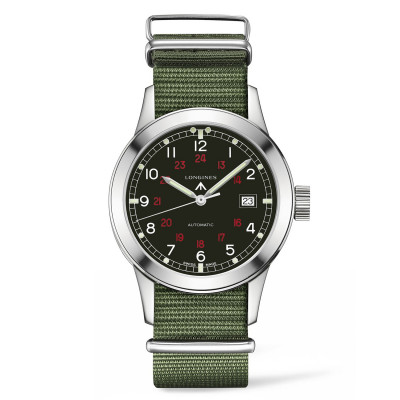 Montre Longines Homme Heritage Military 40 mm - L2.832.4.53.5