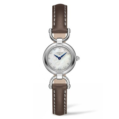 Montre Longines Femme Equestrian 23,5 mm serti diamants - L6.129.4.87.2