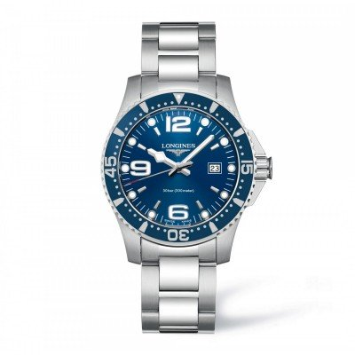 Montre Longines HydroConquest quartz 39 mm - L3.730.4.96.6