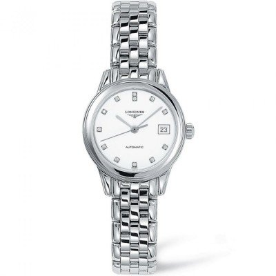 Montre Longines Femme Flagship 26 mm serti diamants - L4.274.4.27.6