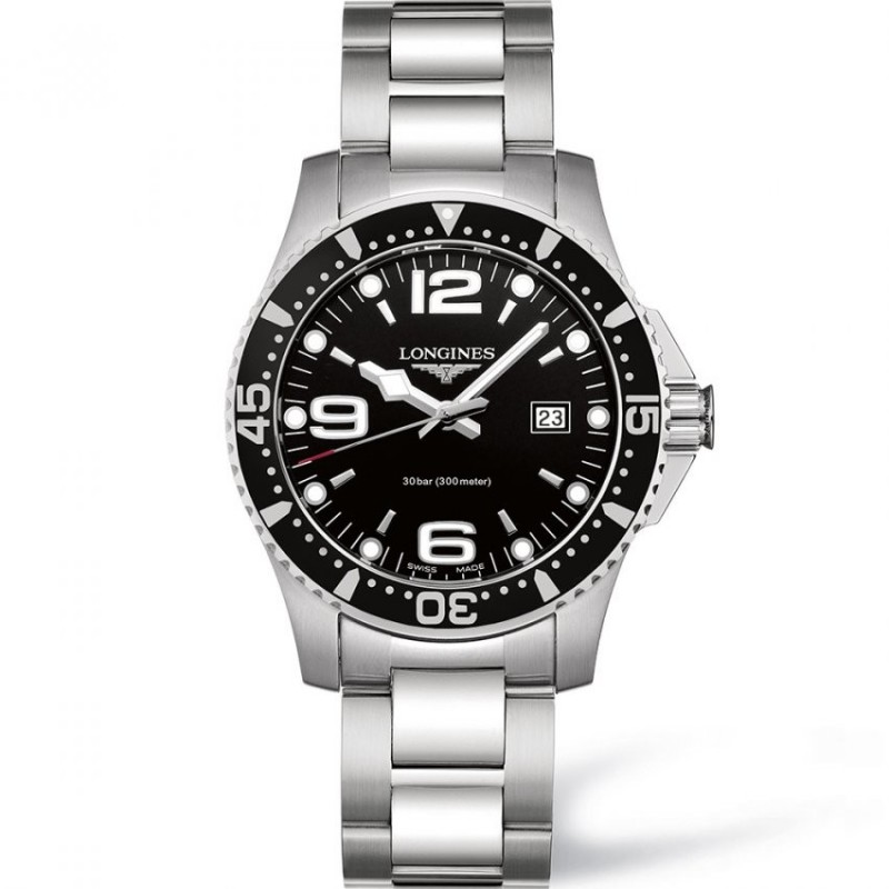 Montre Longines HydroConquest quartz 39 mm - L3.730.4.56.6