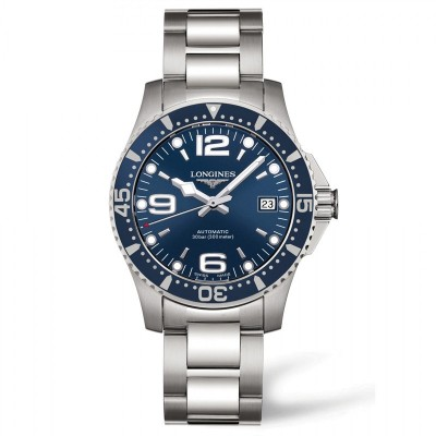 Montre Longines Hydroconquest automatique 39 mm - L3.741.4.96.6
