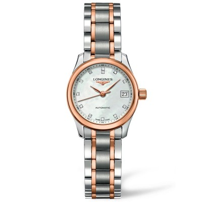 Montre Longines Femme Master Collection 25,5 mm serti diamants - L2.128.5.89.7