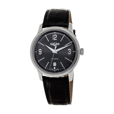Montre Vulcain 50s Presidents' Watch Steel Bracelet Alligator Noir - 560156.305L