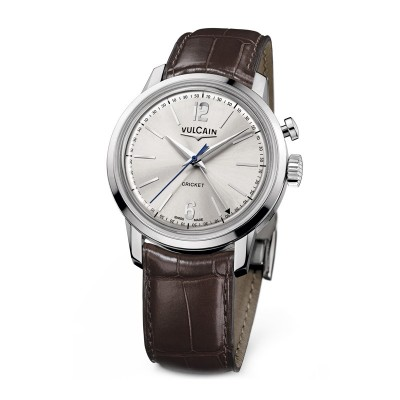 Montre Vulcain 50s Presidents' Watch 39mm Steel Bracelet Alligator Marron - 100153.295L