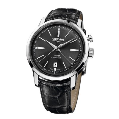 Montre Vulcain Cricket President Bracelet Alligator Noir - 160151.325L