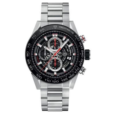 Montre TAG Heuer CARRERA Chronographe Calibre HEUER 01 45 MM - CAR2A1W.BA0703