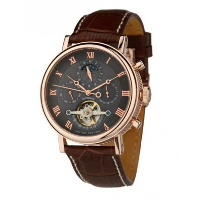 Montre Louis Cottier Tradition Grise Bracelet Cuir - HS3373CgBC2