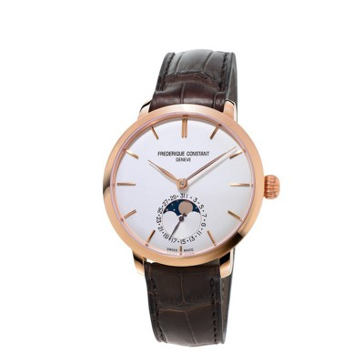 Montre Frédérique Constant Manufacture Slimline Moonphase Or Rose - FC-703V3S4