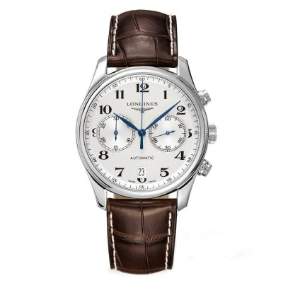 Montre Longines Master Collection Chronographe automatique cadran blanc