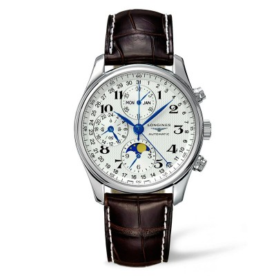 Montre Longines Master Collection Chronographe automatique cadran blanc - L26734783