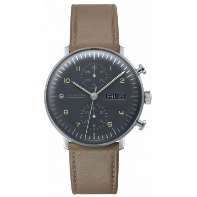 Montre Junghans Max Bill Chronoscope Anthracite