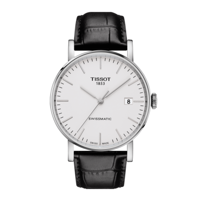 Montre Tissot Everytime Swissmatic Cuir Noir 40 mm
