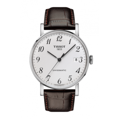 Montre Tissot Everytime Swissmatic Cuir Brun 40mm