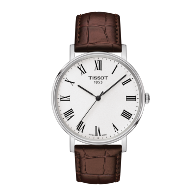 Montre Tissot Everytime Medium Cuir Brun 38 mm