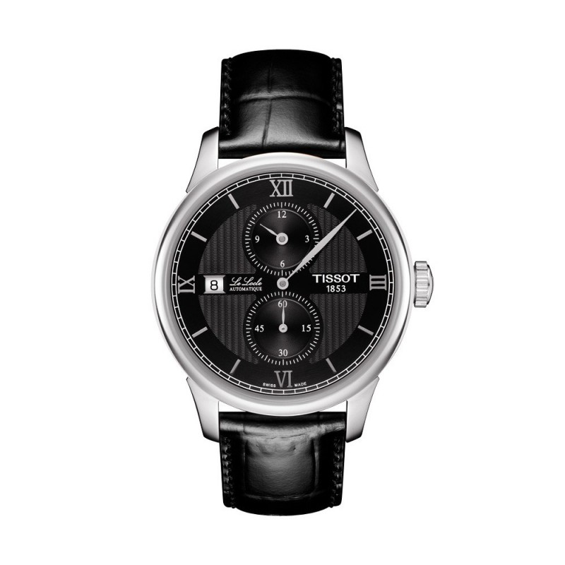 Montre Homme Tissot Le Locle Regulateur Bracelet Cuir Noir - T0064281605802