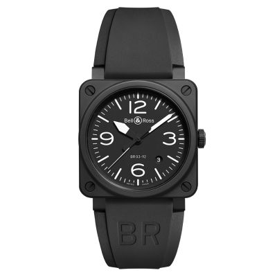 Montre Bell & Ross Aviation BR 03-92 Black Matte Bracelet Caoutchouc Noir - BR0392-BL-CE