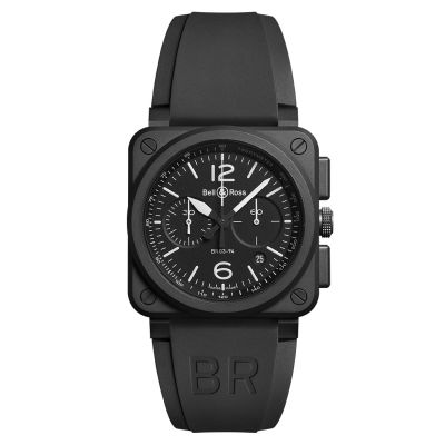 Montre Bell & Ross Aviation BR 03-94 Black Matte Bracelet Caoutchouc Noir - BR0394-BL-CE