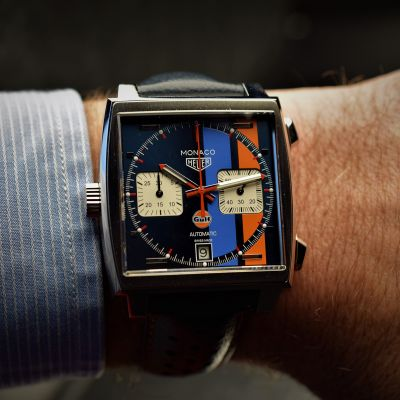 Montre Tag Heuer Monaco Calibre 11 Automatique - edition Gulf 39mm