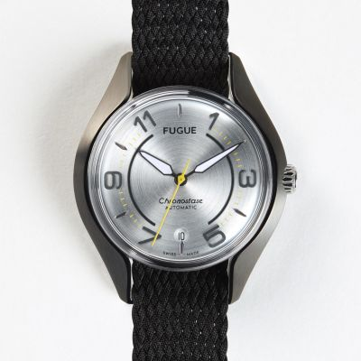 Montre Fugue Chronostase Gris Argent