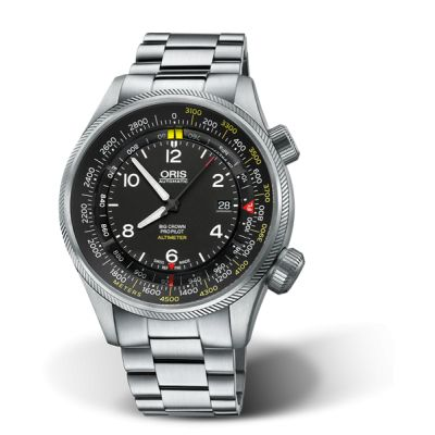 Montre Oris Big Crown Propilot Altimeter Graduation en Mètres - 01 733 7705 4164-Set 8 23 19