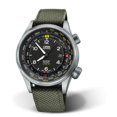 Montre Oris Big Crown Propilot Altimeter Graduation en Mètres - 01 733 7705 4164-Set 5 23 14FC