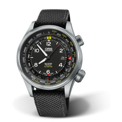 Montre Oris Big Crown Propilot Altimeter Graduation en Mètres - 01 733 7705 4164-Set 5 23 15FC