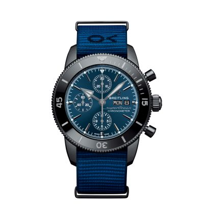 Montre Breitling SUPEROCEAN HERITAGE CHRONOGRAPH 44 OUTERKNOWN BLACK STEEL - BLEU