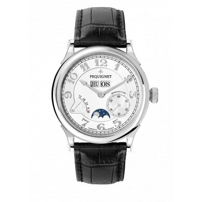Montre Homme Péquignet Paris Royal Bracelet Alligator Noir - 9007433CN