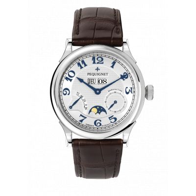 Montre Homme Péquignet Paris Royal Bracelet Alligator Marron - 9007437CG