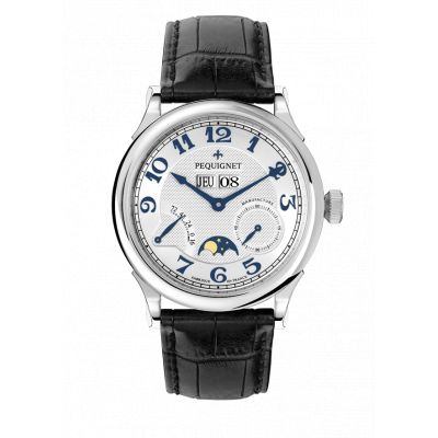Montre Homme Péquignet Paris Royal Bracelet Alligator Noir - 9007437CN