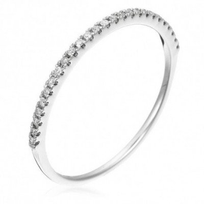"Bague Or Blanc 375 ""Belle..."