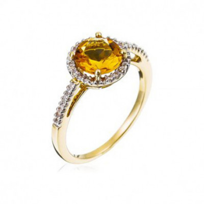 "Bague Or Jaune 375 ""Popi..."