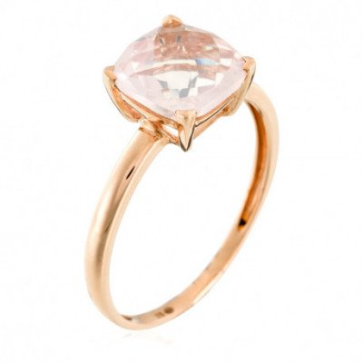 "Bague Or Rose 375 ""Quartz..."