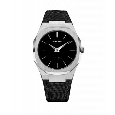 Montre D1 Milano Ultra Thin Silver Case Nylon Strap
