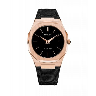 Montre D1 Milano Ultra Thin Rose Gold Case Nylon Strap
