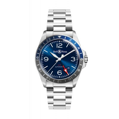 Montre Bell & Ross Homme GMT BLUE