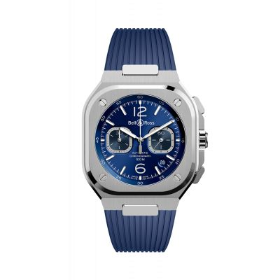 Montre Bell & Ross chrono blue steel BR 05
