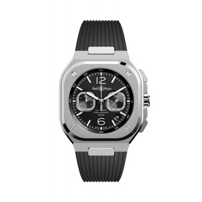 Montre Bell & Ross chrono black Steel BR 05