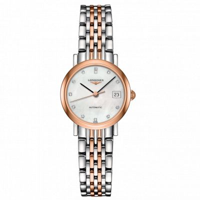 Montre Longines Femme Elegant 25,50 mm serti diamants - L4.309.5.87.7