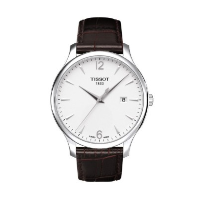 Montre Tissot Tradition Gent Bracelet Cuir Marron - T0636101603700