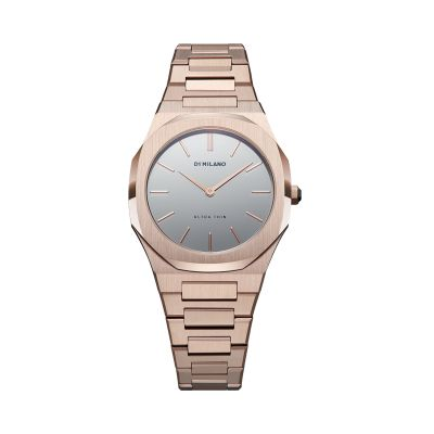 Montre D1 Milano Ultra Thin Valentine 34Mm Rose Gold Case Mirror Dial
