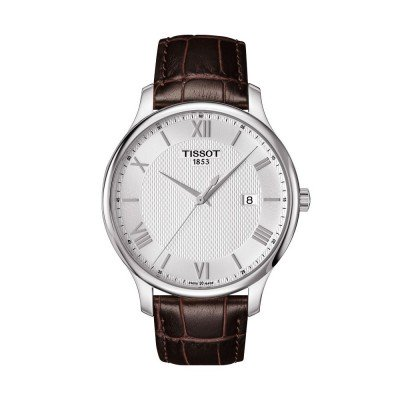 Montre Tissot Tradition Gent Bracelet Cuir Marron - T0636101603800