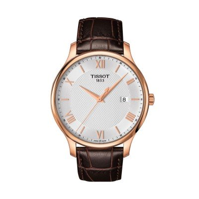 Montre Tissot Tradition Gent Bracelet Cuir Marron - T0636103603800