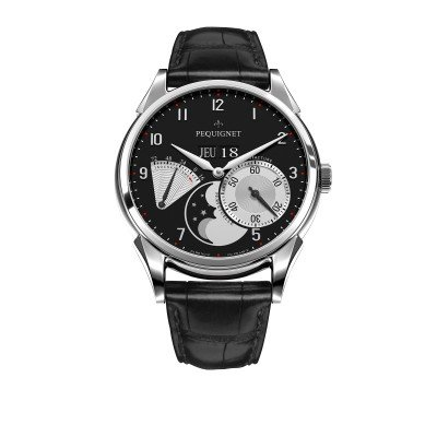 Montre Homme Péquignet Royal Grand Sport Bracelet Alligator Noir - 9030543CN
