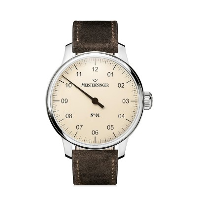 Montre MeisterSinger No.01 Bracelet Cuir Marron - AM3303