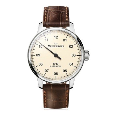 Montre MeisterSinger No.03 Bracelet Cuir Marron - AM903