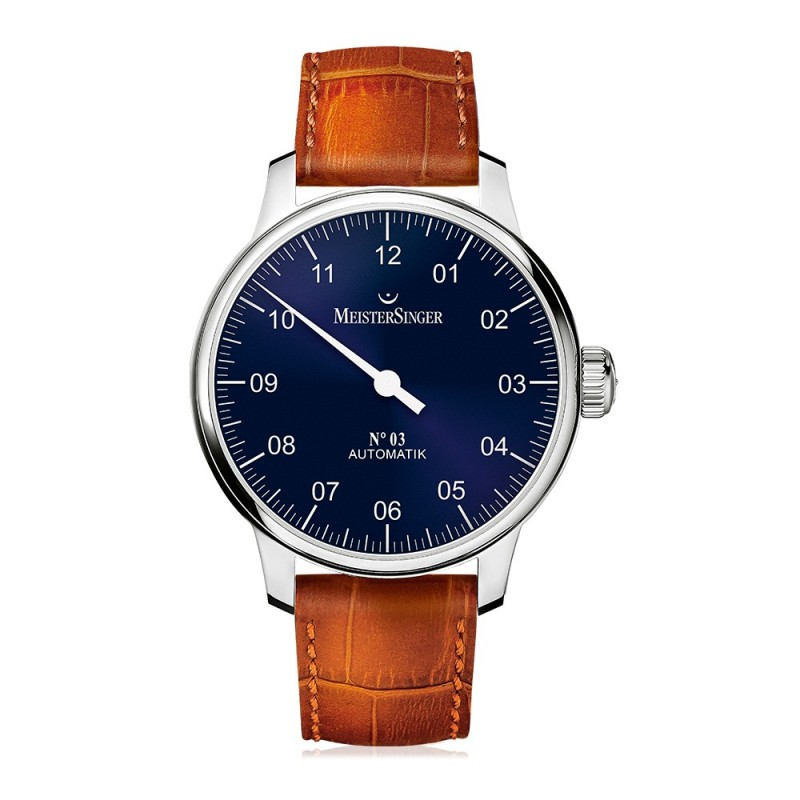 Montre MeisterSinger No.03 Bracelet Cuir Marron - AM908